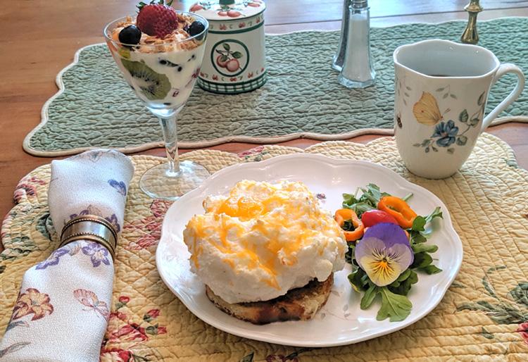Eggs in a Cloud Breakfast